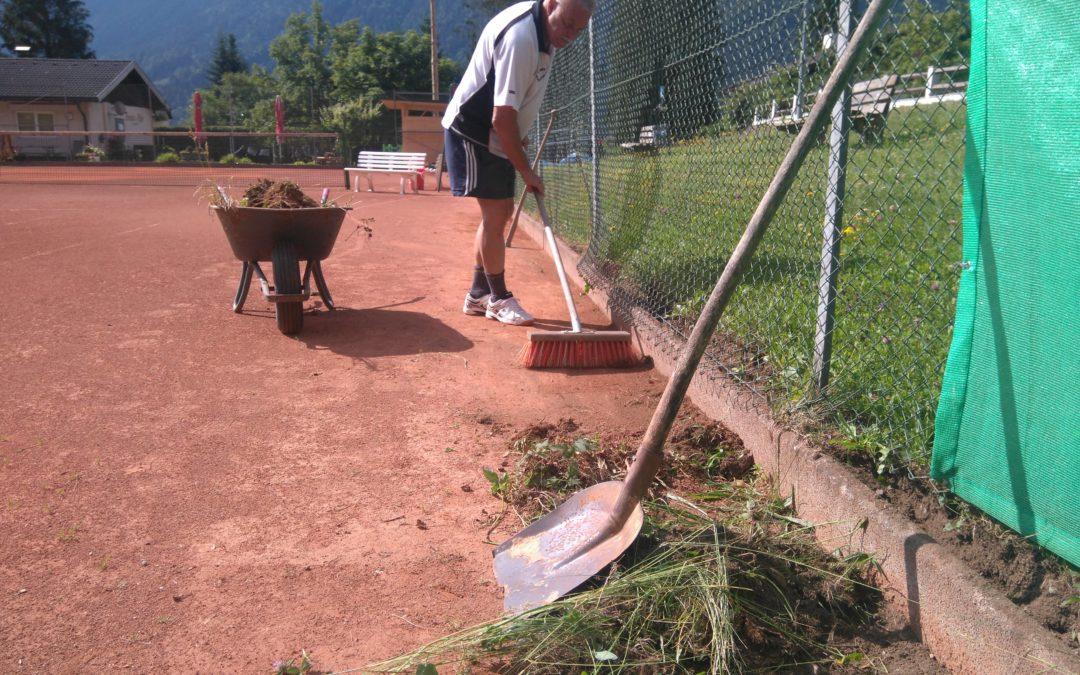 Tennisplatz Sanierung 2019