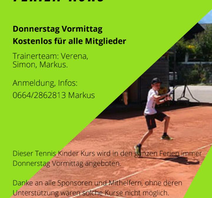 Ferien Tennis Kinder Kurs